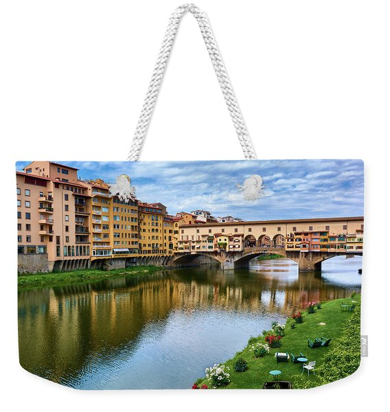 Ponte Vecchio On A Spring Day In Florence, Italy Weekender Tote Bag