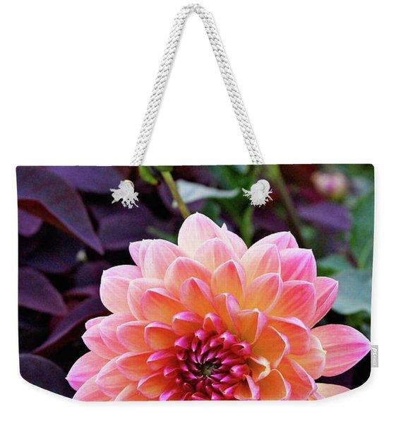 Beautiful Dahlia Weekender Tote Bag