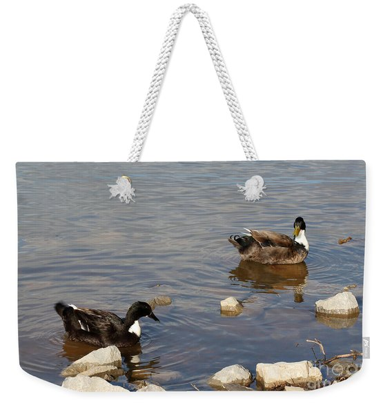 Beautiful Ducks Weekender Tote Bag