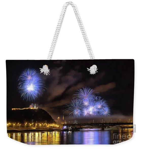Beautiful Fireworks In Budapest Hungary Weekender Tote Bag