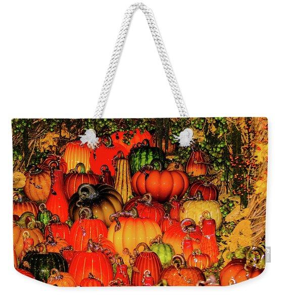Beautiful Glass Pumpkins Weekender Tote Bag