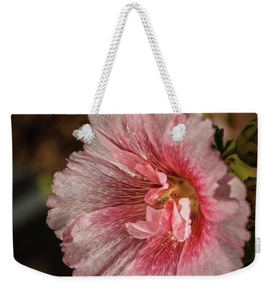 Beautiful Hollyhock Weekender Tote Bag
