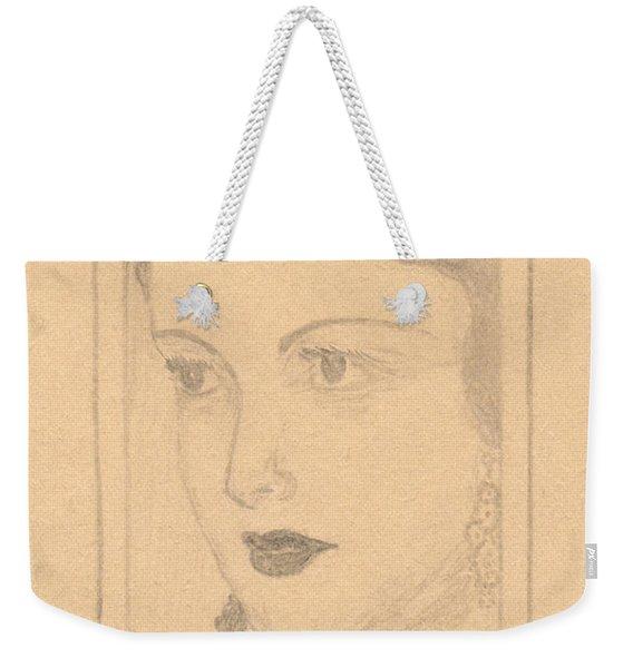 Beautiful Lady Face Weekender Tote Bag
