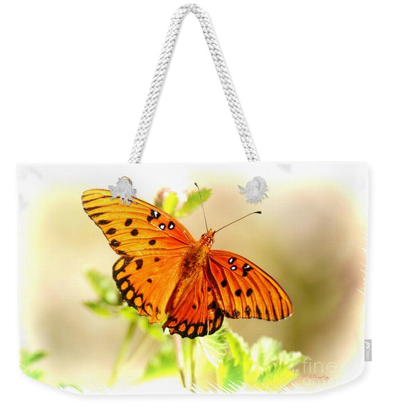 Beautiful Gulf Fritillary Weekender Tote Bag