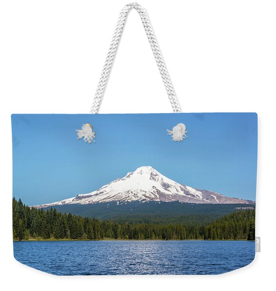 Beautiful Mt. Hood And Trillium Lake Weekender Tote Bag