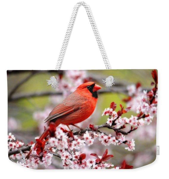 Beautiful Northern Cardinal Weekender Tote Bag