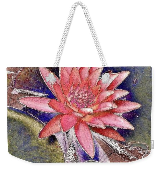 Beautiful Pink Lotus Abstract Weekender Tote Bag