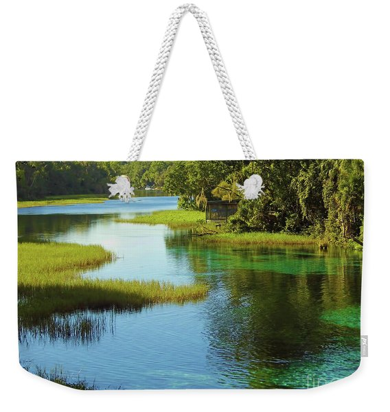 Beautiful River Weekender Tote Bag
