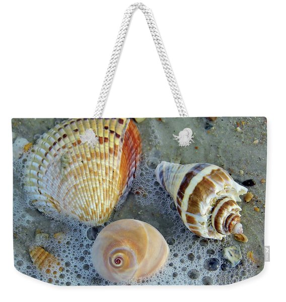 Beautiful Shells In The Surf Weekender Tote Bag