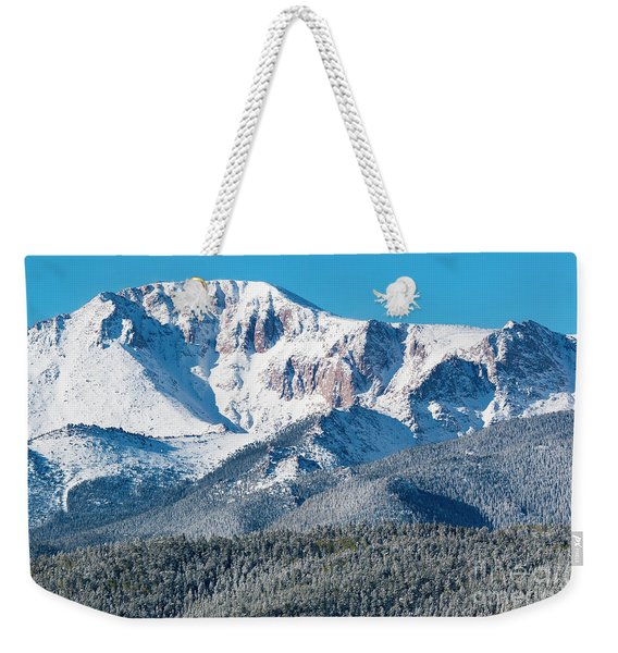 Beautiful Spring Snow On Pikes Peak Colorado Weekender Tote Bag