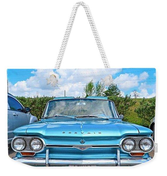 #beautiful #turquoise #chevrolet Weekender Tote Bag