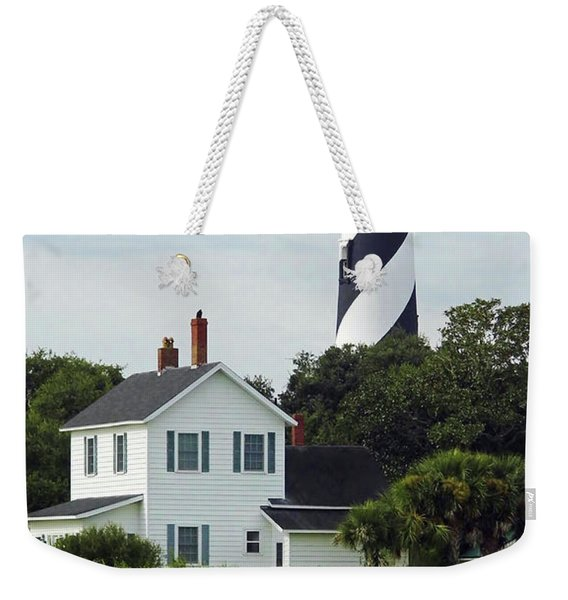 Beautiful Waterfront Lighthouse Weekender Tote Bag