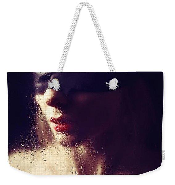 Beautiful Woman Blindfolded #8313 Weekender Tote Bag