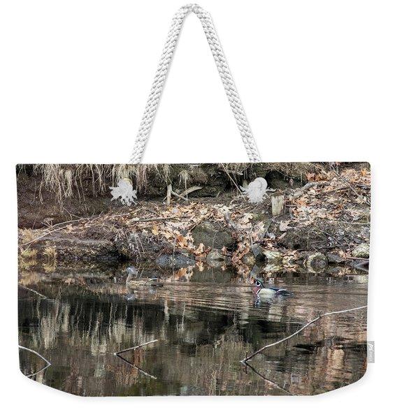 Beautiful Wood Ducks  Weekender Tote Bag