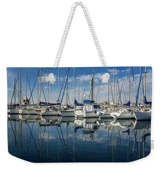 Beautiful Yachts Moored In The Marina Weekender Tote Bag
