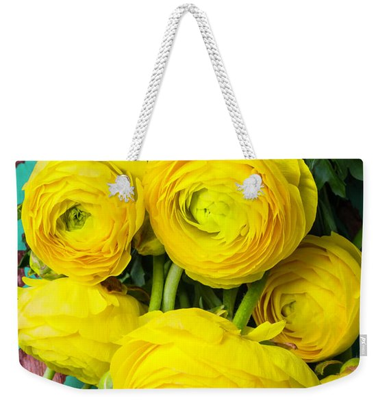 Beautiful Yellow Ranunculus Weekender Tote Bag