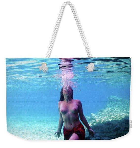 Beautiful Young Mermaid Weekender Tote Bag