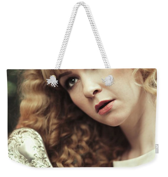 Beautiful Young Woman  Weekender Tote Bag