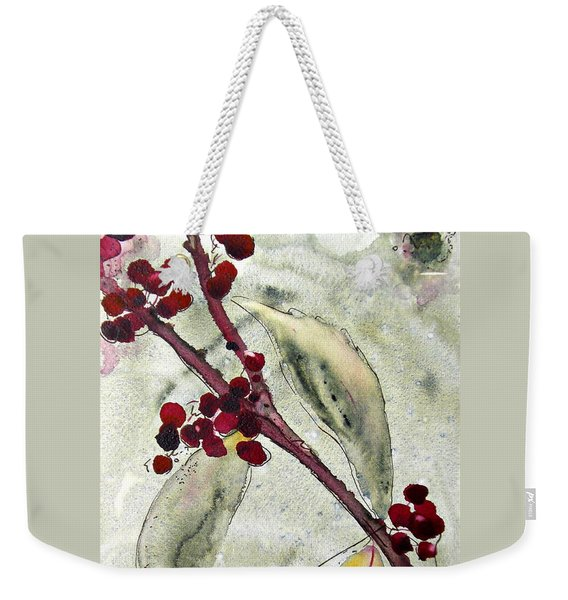Beauty Berry Branch Weekender Tote Bag