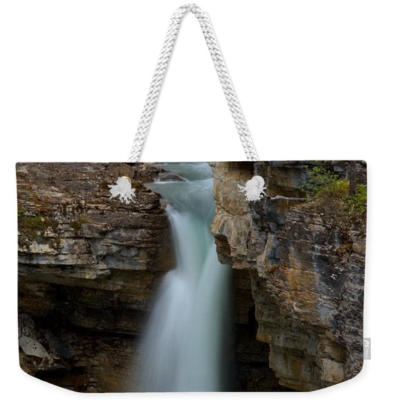 Beauty Creek Blue Waterfall Weekender Tote Bag
