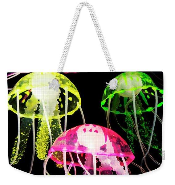 Beauty In Black Seas Weekender Tote Bag