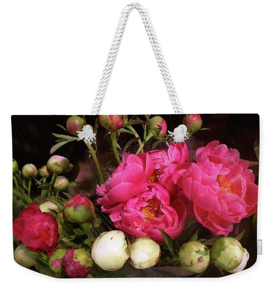 Beauty In The Whole Foods Flower Dept. Weekender Tote Bag