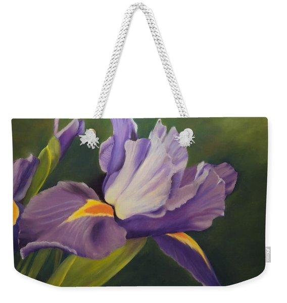 Beauty Is In The Iris Weekender Tote Bag