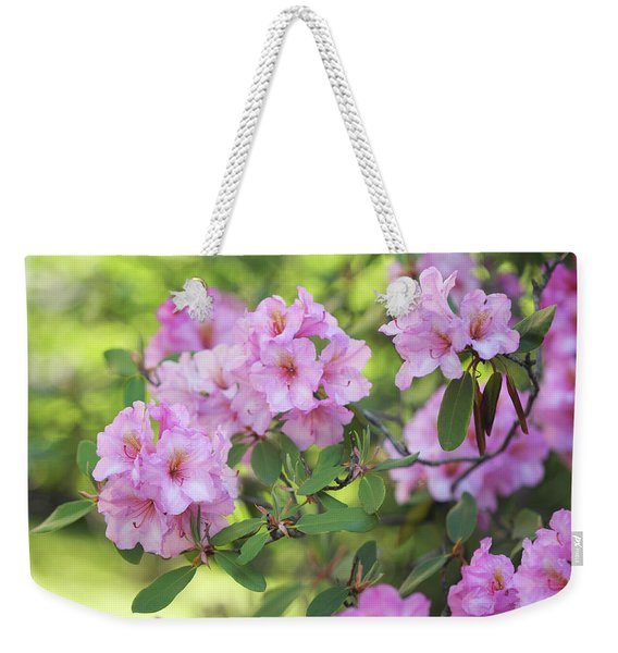 Beauty Of Pink Rhododendron Weekender Tote Bag
