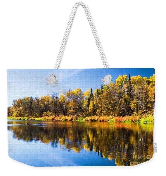Beauty On The Big Fork Weekender Tote Bag