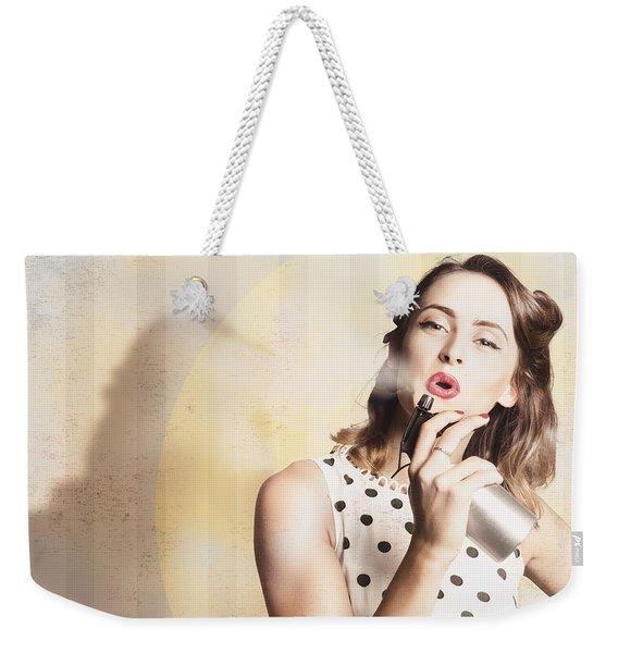 Beauty Parlour Pinup Weekender Tote Bag