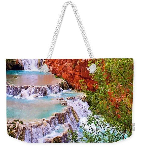 Beaver Falls Grand Canyon Painting Weekender Tote Bag