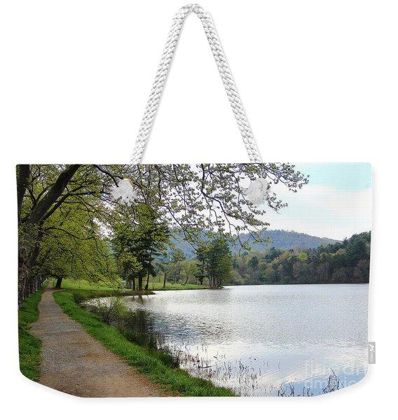 Beaver Lake Path Weekender Tote Bag