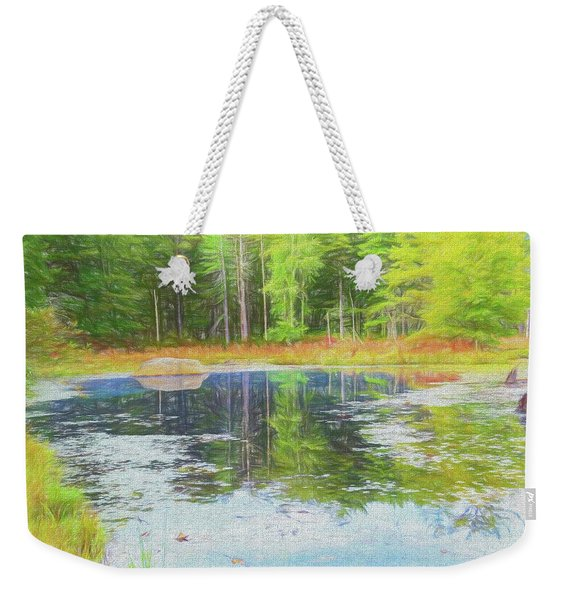 Beaver Pond Reflections Weekender Tote Bag
