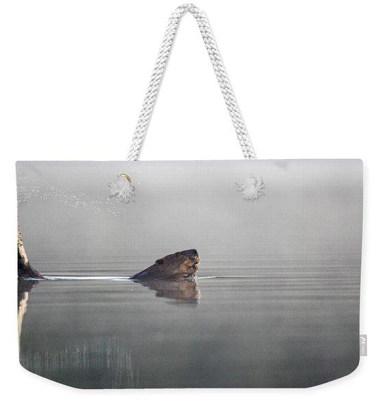 Beaver Tail Weekender Tote Bag