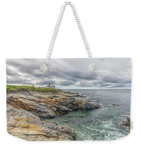 Beavertail Lighthouse On Narragansett Bay Weekender Tote Bag