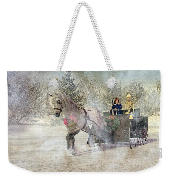Because I Could Not Stop For Death Weekender Tote Bag