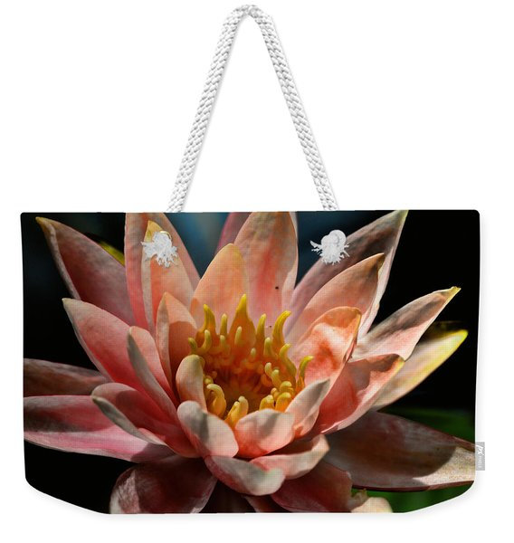 Beckoning The Sun Water Lily Weekender Tote Bag