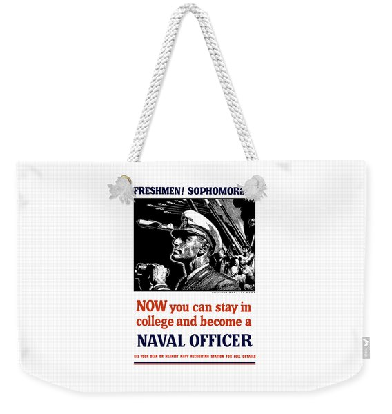 Become A Naval Officer Weekender Tote Bag