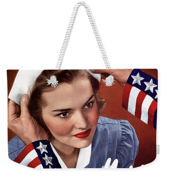 Become A Nurse -- Ww2 Poster Weekender Tote Bag