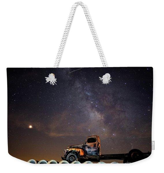 Sleeping Alone Under The Stars  Weekender Tote Bag