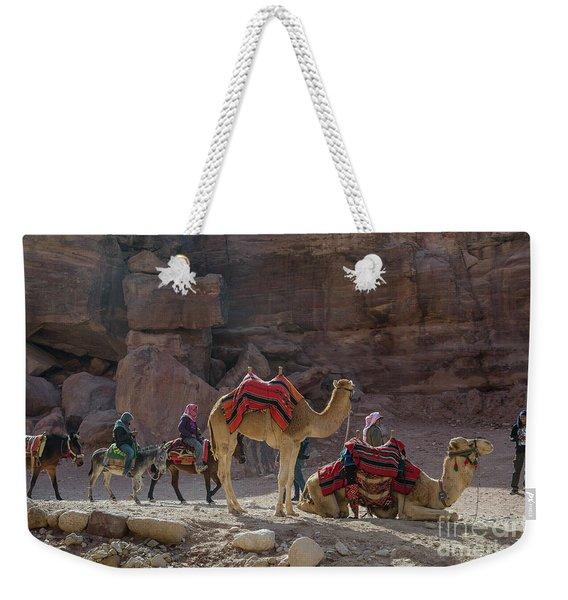Bedouin Tribesmen, Petra Jordan Weekender Tote Bag