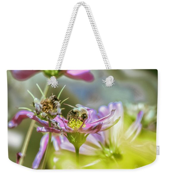 Bee Above Yellow.... Weekender Tote Bag