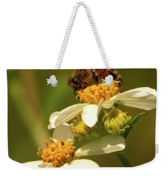 Bee Among Daisies Weekender Tote Bag