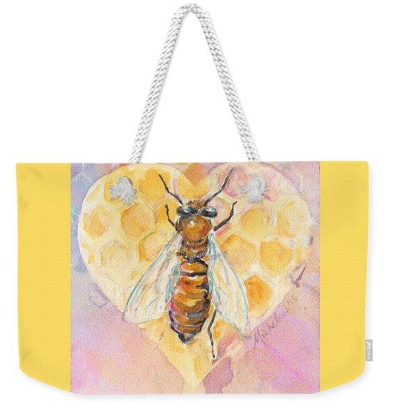 Bee Heart Weekender Tote Bag