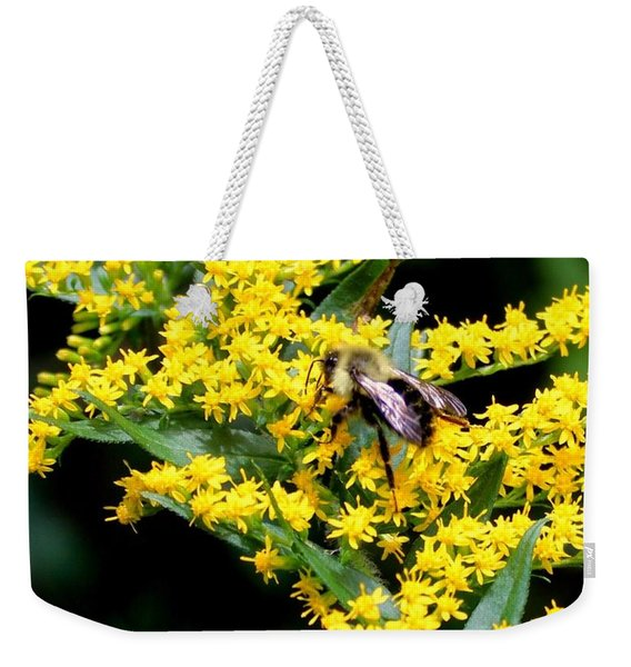 Bee In The Rawweed Weekender Tote Bag