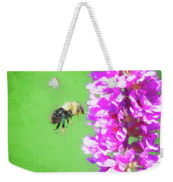 Bee Kissing A Flower Weekender Tote Bag
