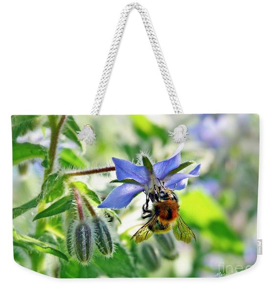 Bee On Borage Weekender Tote Bag