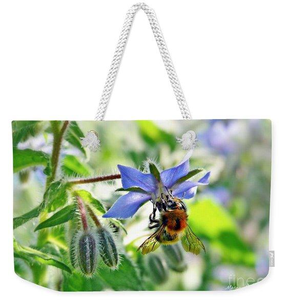 Bee On Borage Weekender Tote Bag