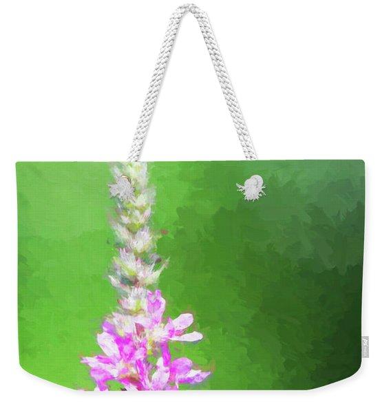 Bee Over Flowers Weekender Tote Bag