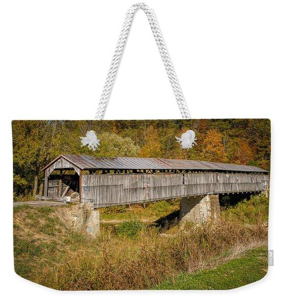 Beech Fork Or Mooresville Covered Bridge Weekender Tote Bag
